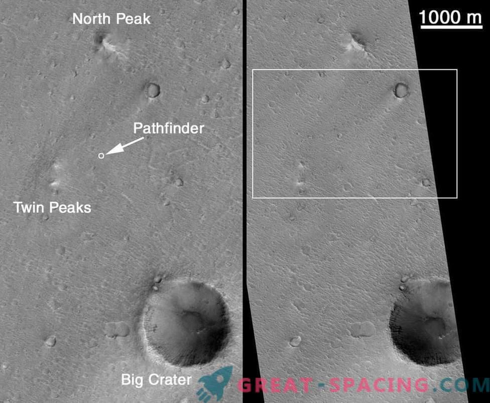 Momentos en que un satélite de la NASA espió robots marcianos