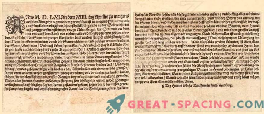 Qué luces brillantes se vieron en Nuremberg en 1561. Historias de testigos y versiones de ufólogos