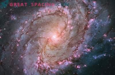 El telescopio Hubble mostró la vida de las estrellas en la galaxia South Spinner.