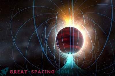 La pequeña estrella da lugar a un potente campo magnético.