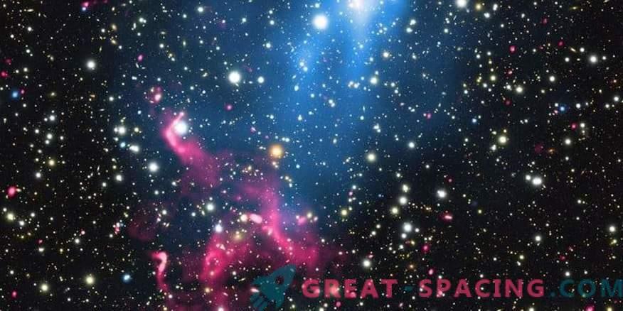 Agujero negro dentro de galaxias fusionadas