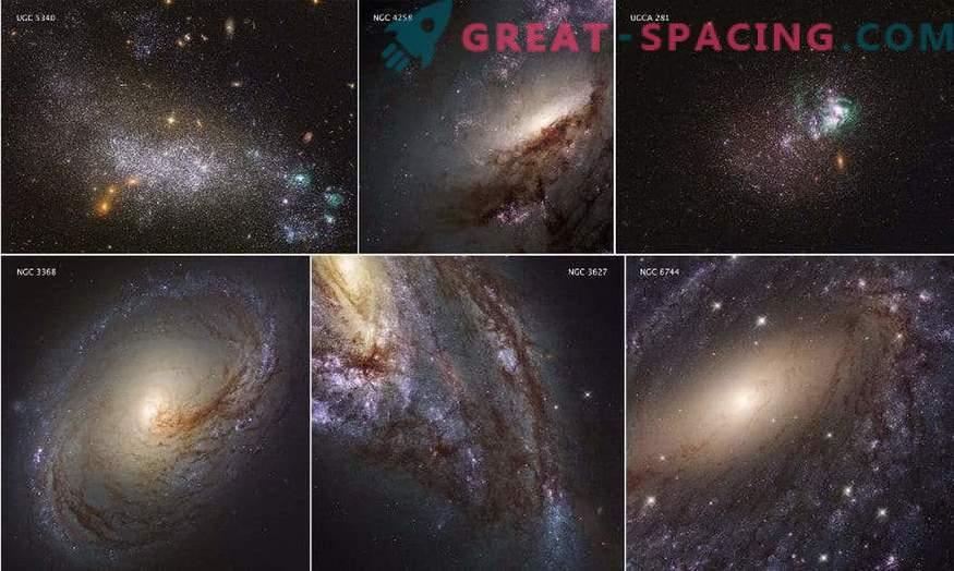 Los científicos han publicado una revisión completa de la luz UV de las galaxias cercanas