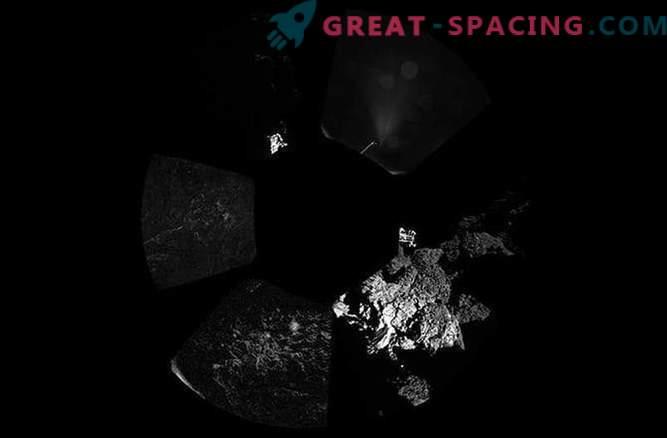 Primeras fotografías del cometa Churyumov-Gerasimenko del módulo de aterrizaje de Phil