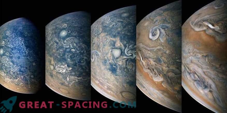 Gran vista al norte de Júpiter