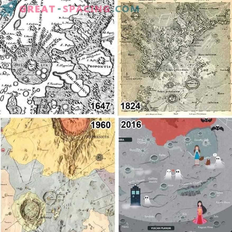 La imagen evolutiva del sistema solar se ve en el catálogo de mapas planetarios