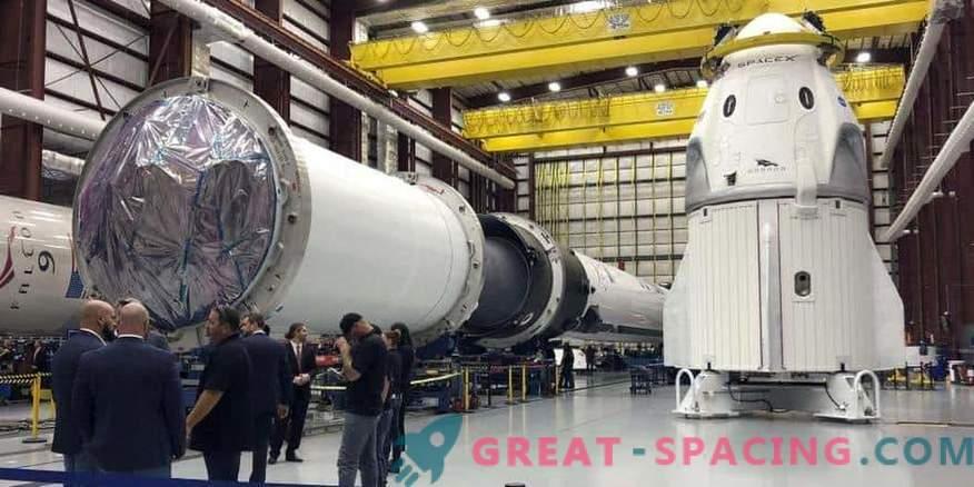La NASA y SpaceX se están preparando para el lanzamiento de la prueba de marzo