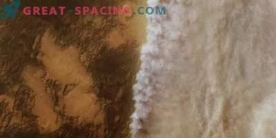 Fotos del cosmos: la tormenta de polvo marciana