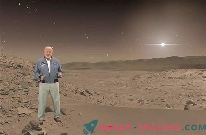 Cómo Buzz Aldrin dio un paseo virtual a Marte