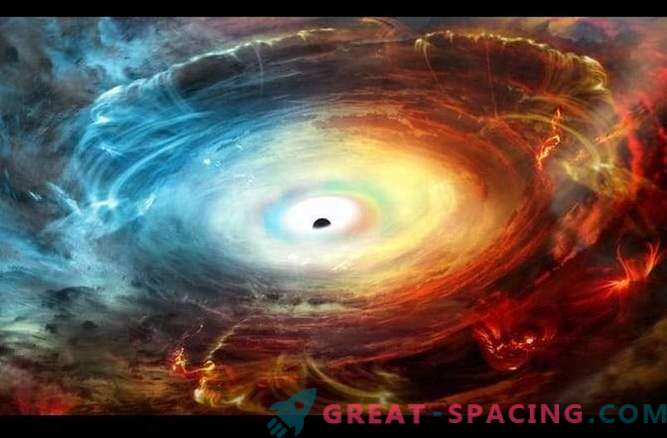 El agujero negro está enmascarado por los gases de escape