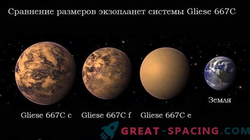 La civilización extraterrestre puede vivir en el planeta Gliese 667C c