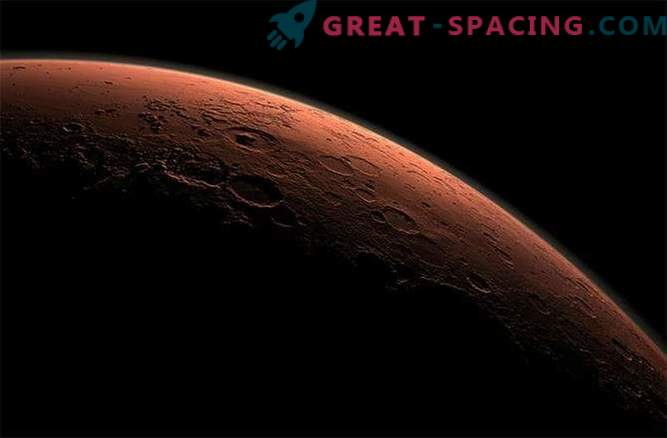 El metal estaba lloviendo en Marte