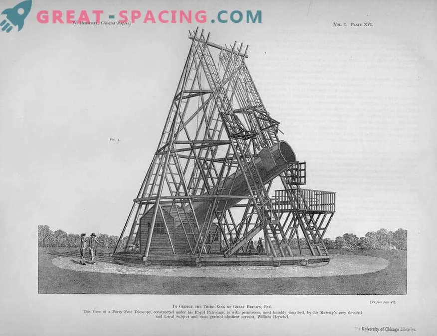 Lo que parecía el telescopio gigante de William Herschel