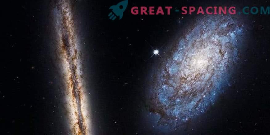 Hubble celebra su cumpleaños número 27 con dos amigos