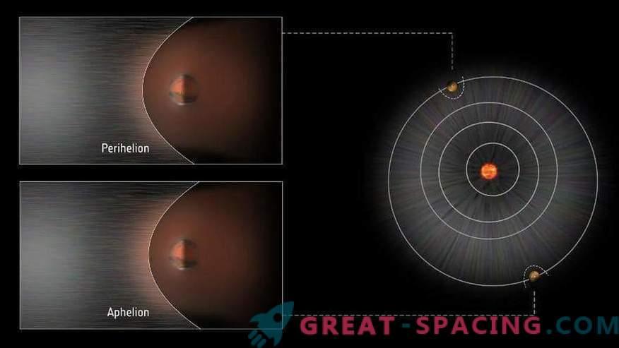 Moviendo la onda de choque marciana
