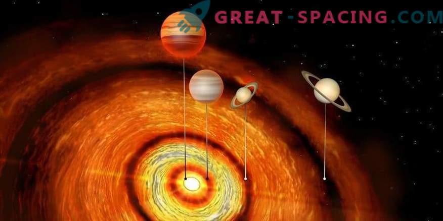 Planetas gigantes alrededor de la estrella joven