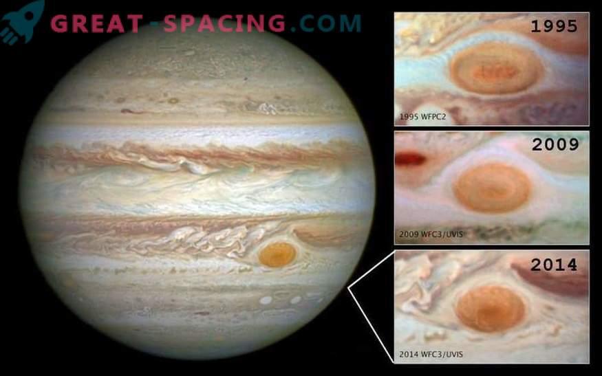 La Gran Mancha Roja continúa reduciéndose. Lo que pasa en Jupiter