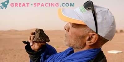 Desierto marroquí tamizado por cazadores de meteoritos