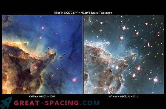 Evolución de la imagen del espacio Hubble