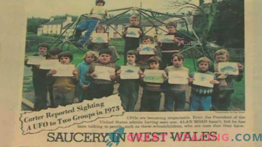 Incidente en Gales - 1977. Los escolares confían en que han visto una nave alienígena
