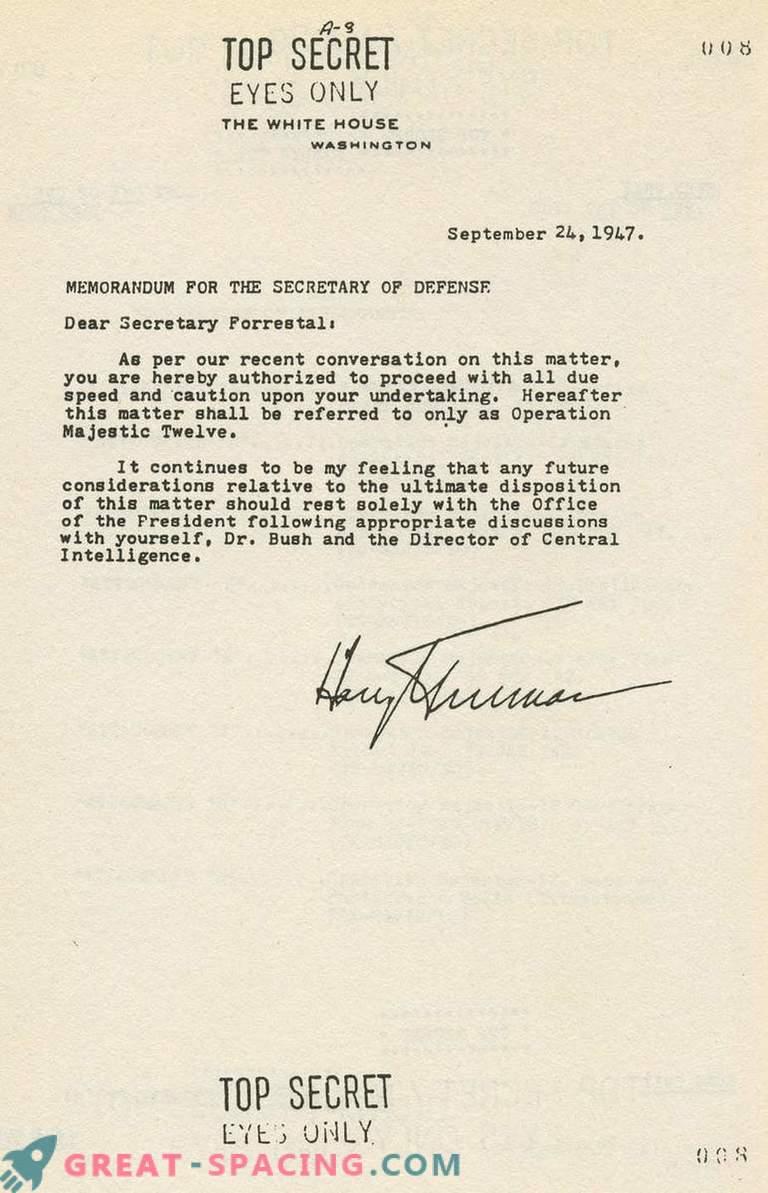¿Puede un documento de 1952 confirmar la existencia de un grupo secreto que estudia objetos no identificados
