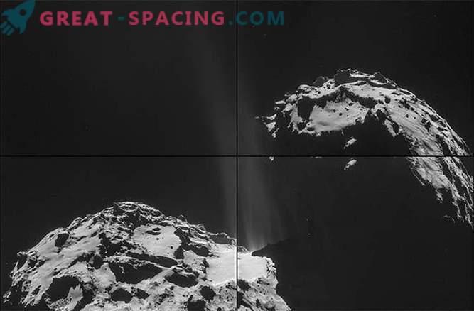 Rosetta vio corrientes de vapor que escapaban de la superficie del cometa Churyumov-Gerasimenko
