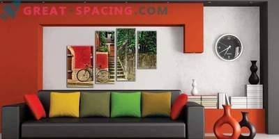 Impresionantes pinturas modulares para tu interior