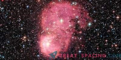 Nebulosa galáctica brillante festiva para el Hubble