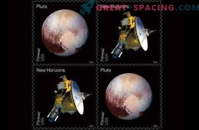 Plutón recibió nuevos sellos postales