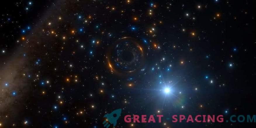 Un agujero negro se esconde en un cúmulo de estrellas a gran escala