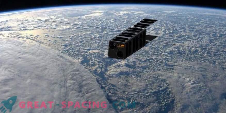 Un pequeño satélite sondea un planeta distante