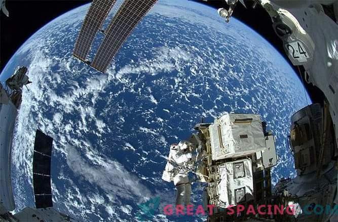 Impresionante vista desde la estación espacial