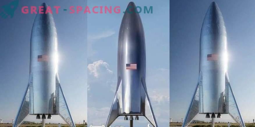 Ilon Musk demuestra un prototipo de un cohete marciano