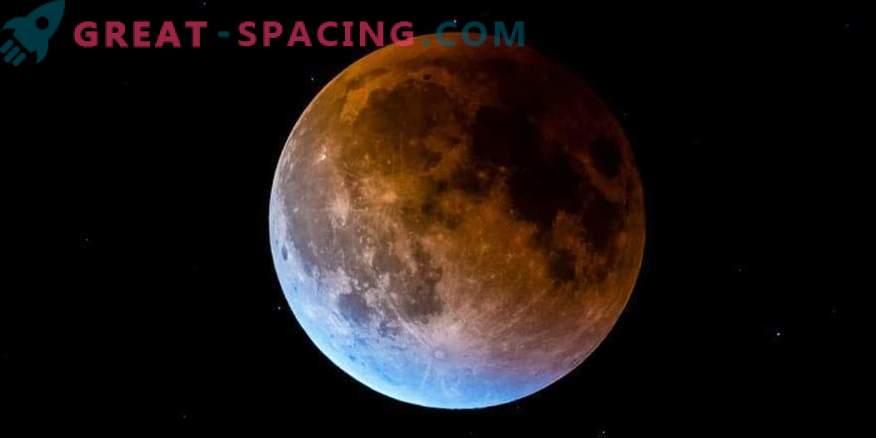 Luna sangrienta azul rara