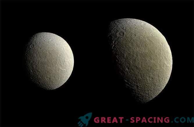 La sonda de Cassini tomó fotografías de alta calidad de Rei