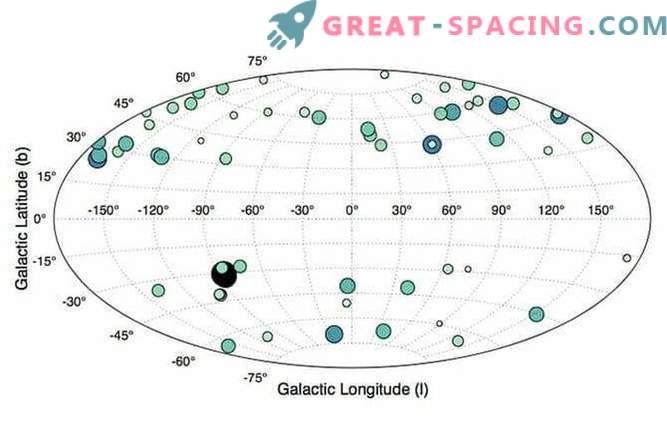 Mapa de la galaxia: enanas rojas de la Vía Láctea