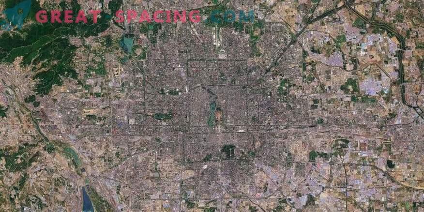 Beijing en el mapeo de satélite Sentinel-2