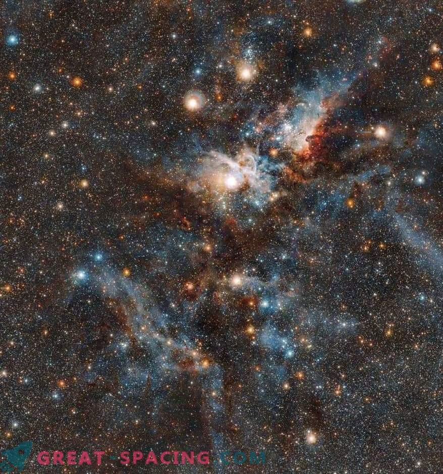 Batalla sangrienta entre las estrellas y el polvo en la Nebulosa Carina