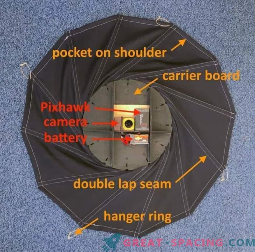 Un estudiante está desarrollando un escudo térmico giratorio para naves espaciales