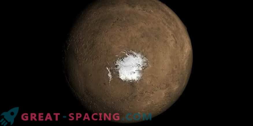 Un lago marciano podría aparecer debido a la actividad volcánica reciente
