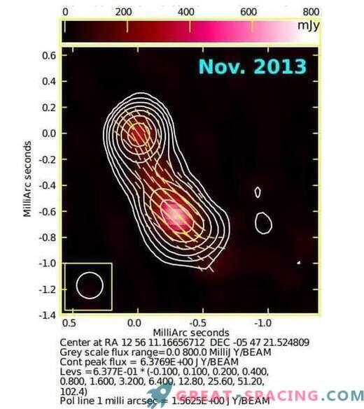 Áreas de rayos gamma encontradas en blazar 3C 279
