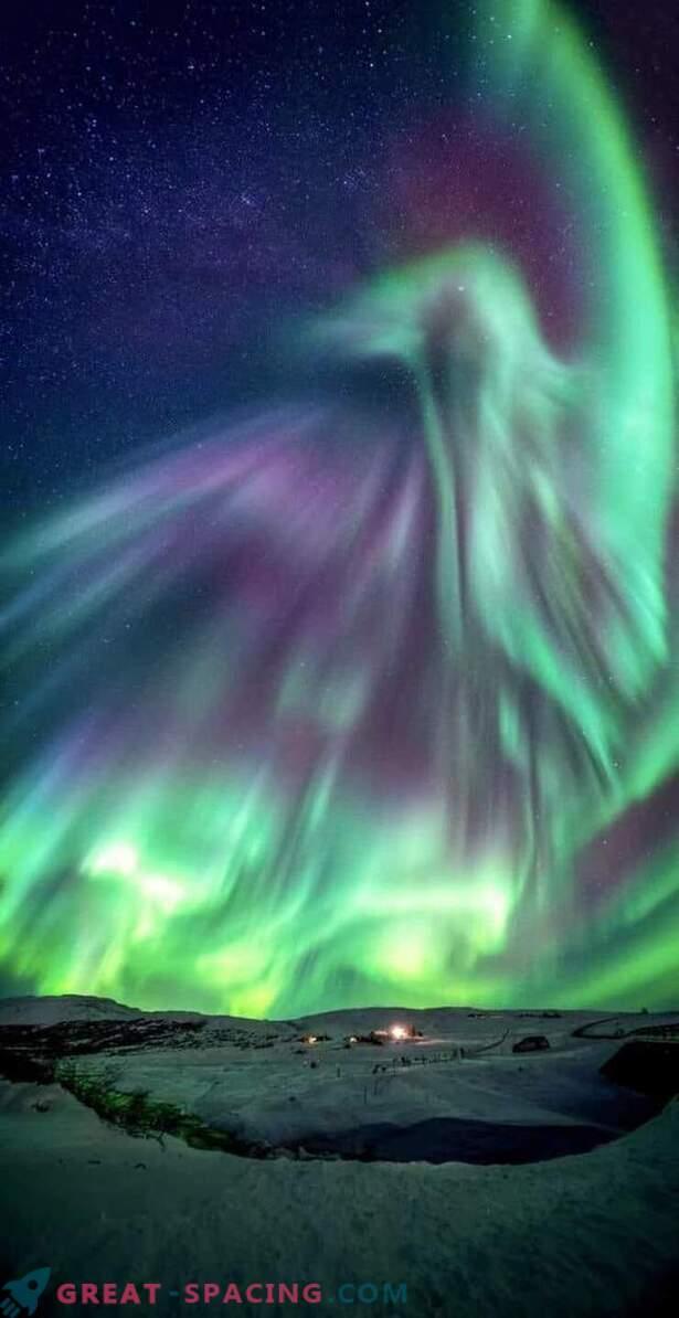 Un dragón brilló sobre Islandia