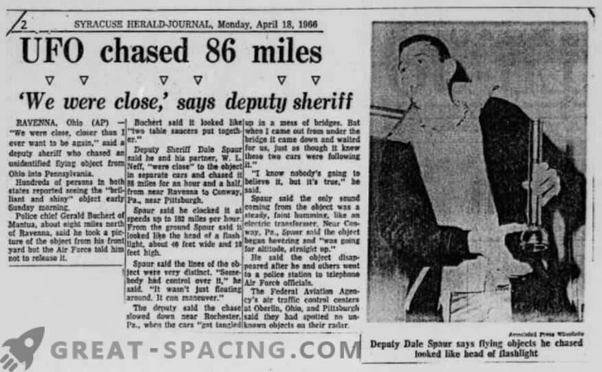 El incidente en Portridge - 1966. La policía describió la búsqueda de un objeto no identificado