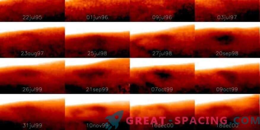 Se encontró un gran punto frío en Júpiter